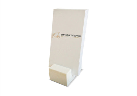 Vertical Business Card Holder - White Quartz