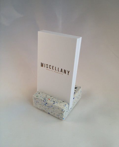 Vertical Business Card Holder - Confetti Quartz