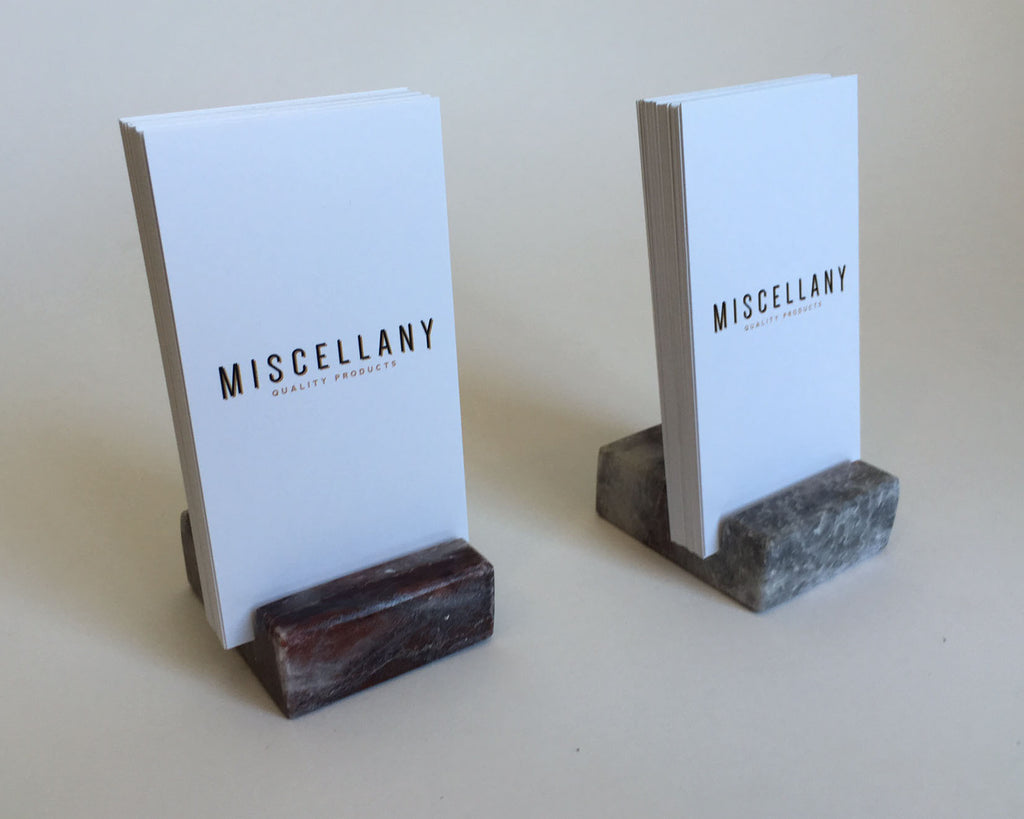 Vertical Business Card Holder - Grey and Burgundy Marble – Craftsman ...