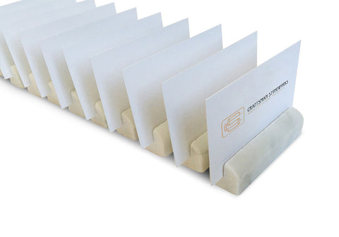 100 White Carrara Marble Wedding Name Card Holders