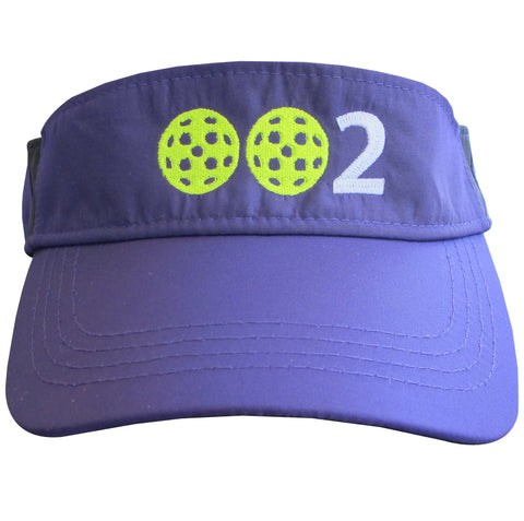 002 Pickleball Embroidered Performance Dri-Fit Visor by Pickleball Xtra