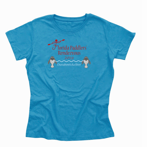 2019 Florida Paddlers Rendezvous Ladies Cotton Blend T-Shirt