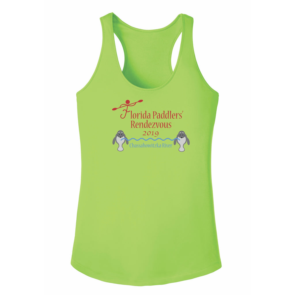 2019 Official Florida Paddlers Rendezvous Ladies Performance Racerback Tank