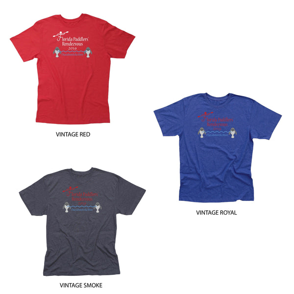 2019 Florida Paddlers Rendezvous Men's Cotton Blend T-Shirt