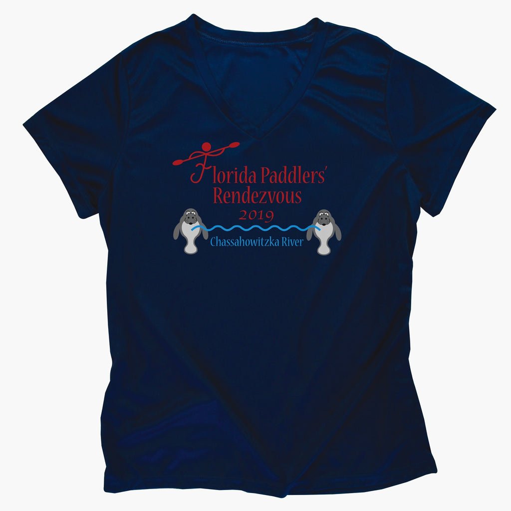 2019 Official Florida Paddlers Rendezvous Ladies Performance T-Shirt