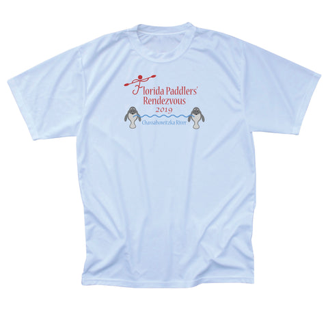 2019 Official Florida Paddlers Rendezvous Men's Performance T-Shirt