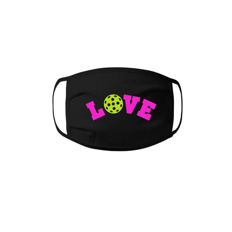 Face Mask - LOVE Pickleball 100% cotton Jersey Face Mask - Unisex Face Mask - Non Surgical