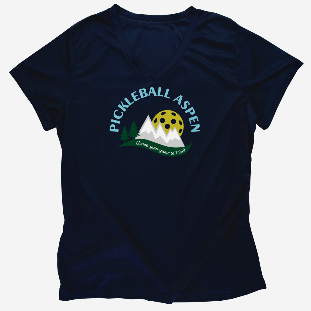 2019 Aspen Colorado Pickleball Ladies Performance T-Shirt
