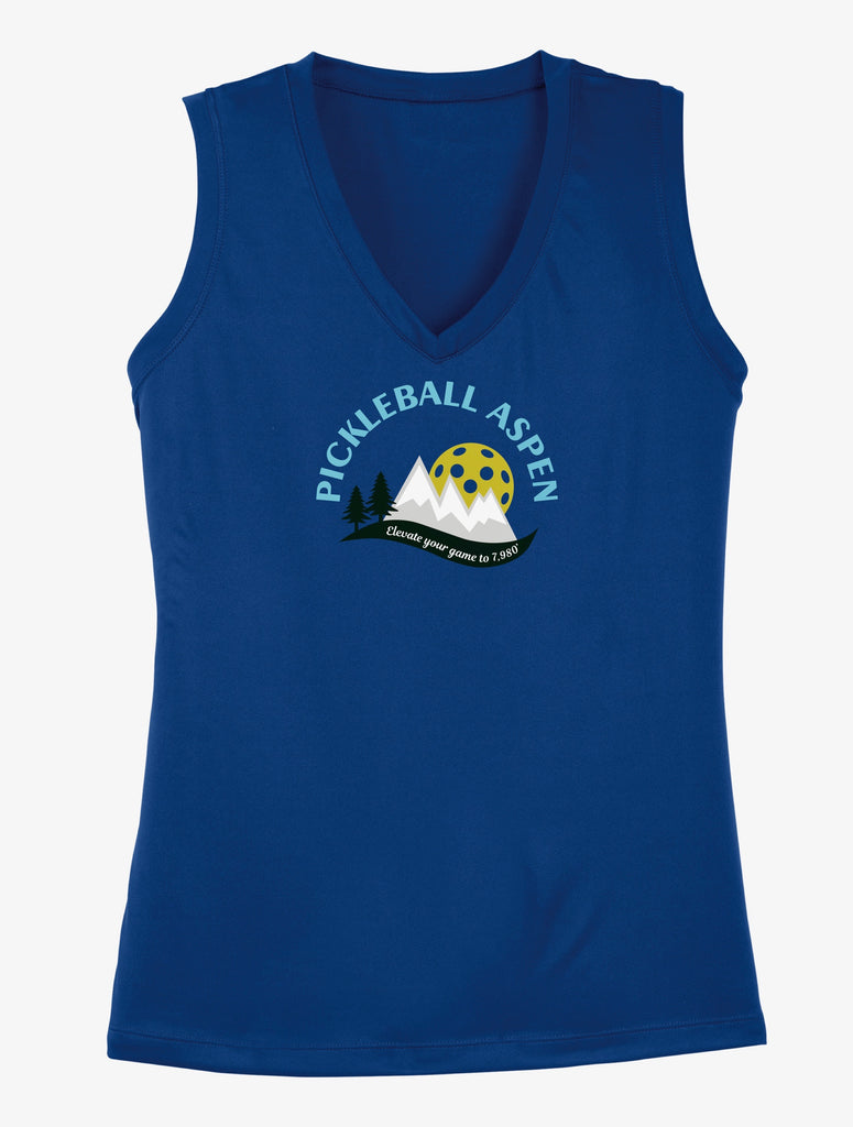 2019 Aspen Colorado Pickleball Ladies Performance Sleeveless Tank