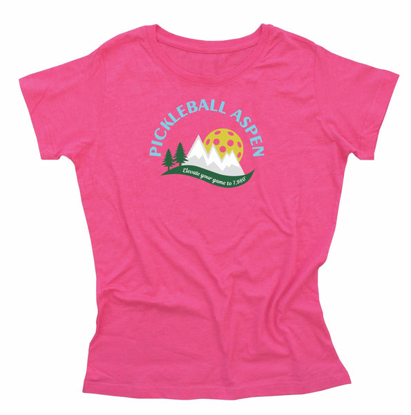 2019 Aspen Colorado Pickleball Ladies Cotton Blend T-Shirt