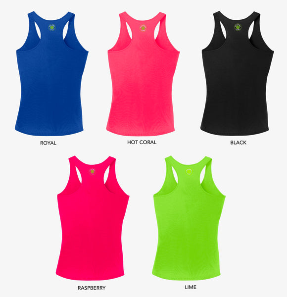 Aspen Pickleball Ladies Performance Racerback Tank - Front Logo