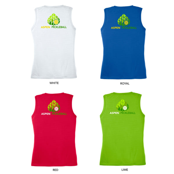 Aspen Pickleball Ladies Performance Sleeveless Tank - Back Logo