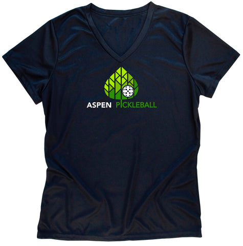 Aspen Pickleball Ladies Performance T-Shirt - Front Logo