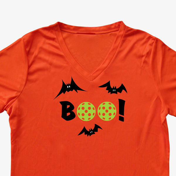 Boo! Pickleball Halloween Ladies T-Shirt - Performance Dri-Fit