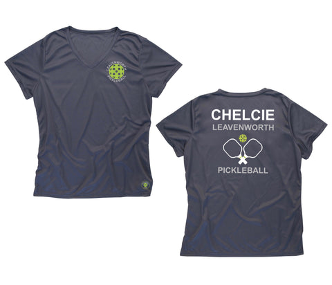 Custom order for Chelcie - Ladies Performance Leavenworth Pickleball T-Shirts
