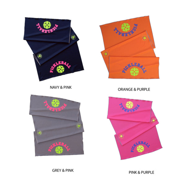 Pink Pickleball Cooling Towel - Athletic towel