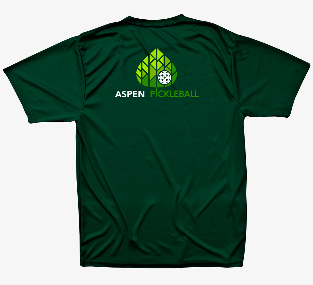 Copy of Aspen Pickleball Men's Performance T-Shirt - Back Logo