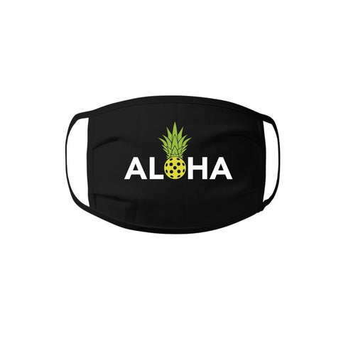 Face Mask - Aloha Pickleball 100% cotton Jersey Face Mask - Unisex Face Mask - Non Surgical