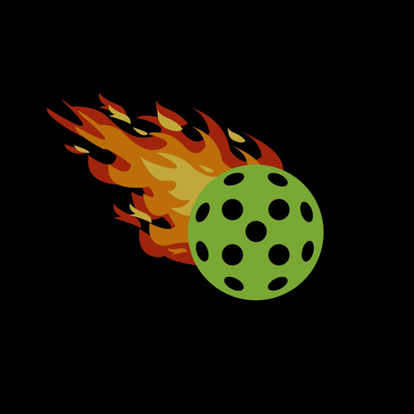 Golf Cart Pickleball Fireball Decal