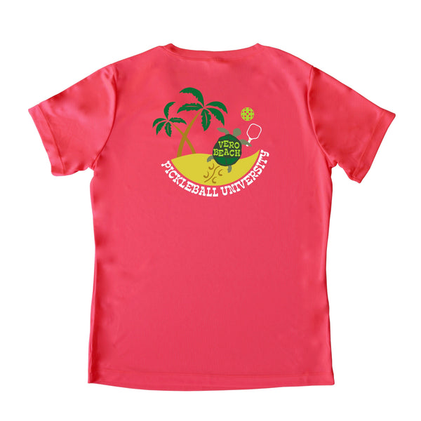 Vero Beach, FL - Pickleball University Club Ladies Performance T-Shirt