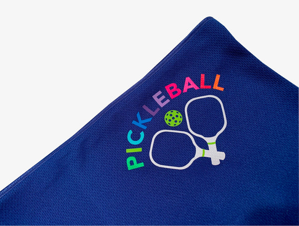 Neon Pickleball Paddle Full Face Mask - Neck Gaiter - Cooling Towel