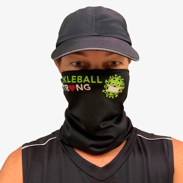 Pickleball Strong Full Face Mask - Neck Gaiter - Cooling Towel