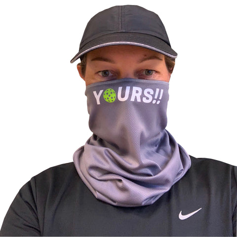 Pickleball 'Yours!' Full Face Mask - Neck Gaiter - Cooling Towel