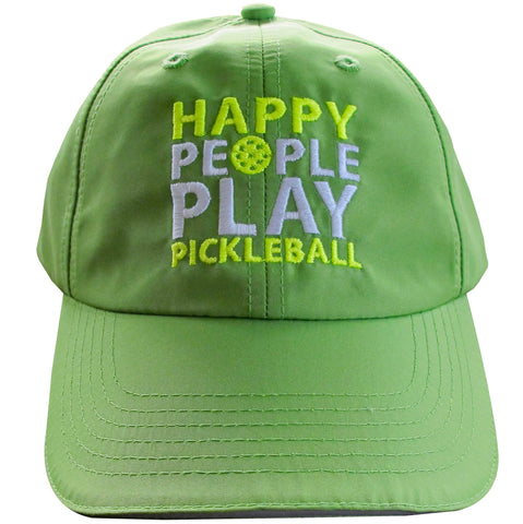 Happy People Play Pickleball Embroidered Performance Dri-Fit Hat by Pickleball Xtra