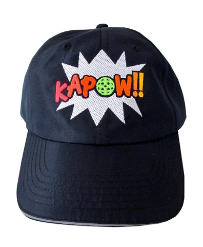 KAPOW!! Pickleball Embroidered Performance Dri-Fit Hat by Pickleball Xtra