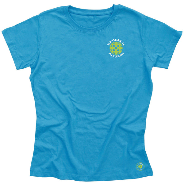 Sebastian, FL Ladies Pickleball Club T-Shirt - Casual Cotton Blend