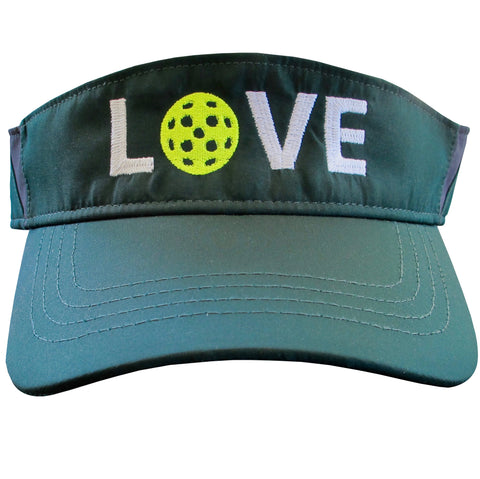 LOVE Pickleball Embroidered Performance Dri-Fit Visor by Pickleball Xtra