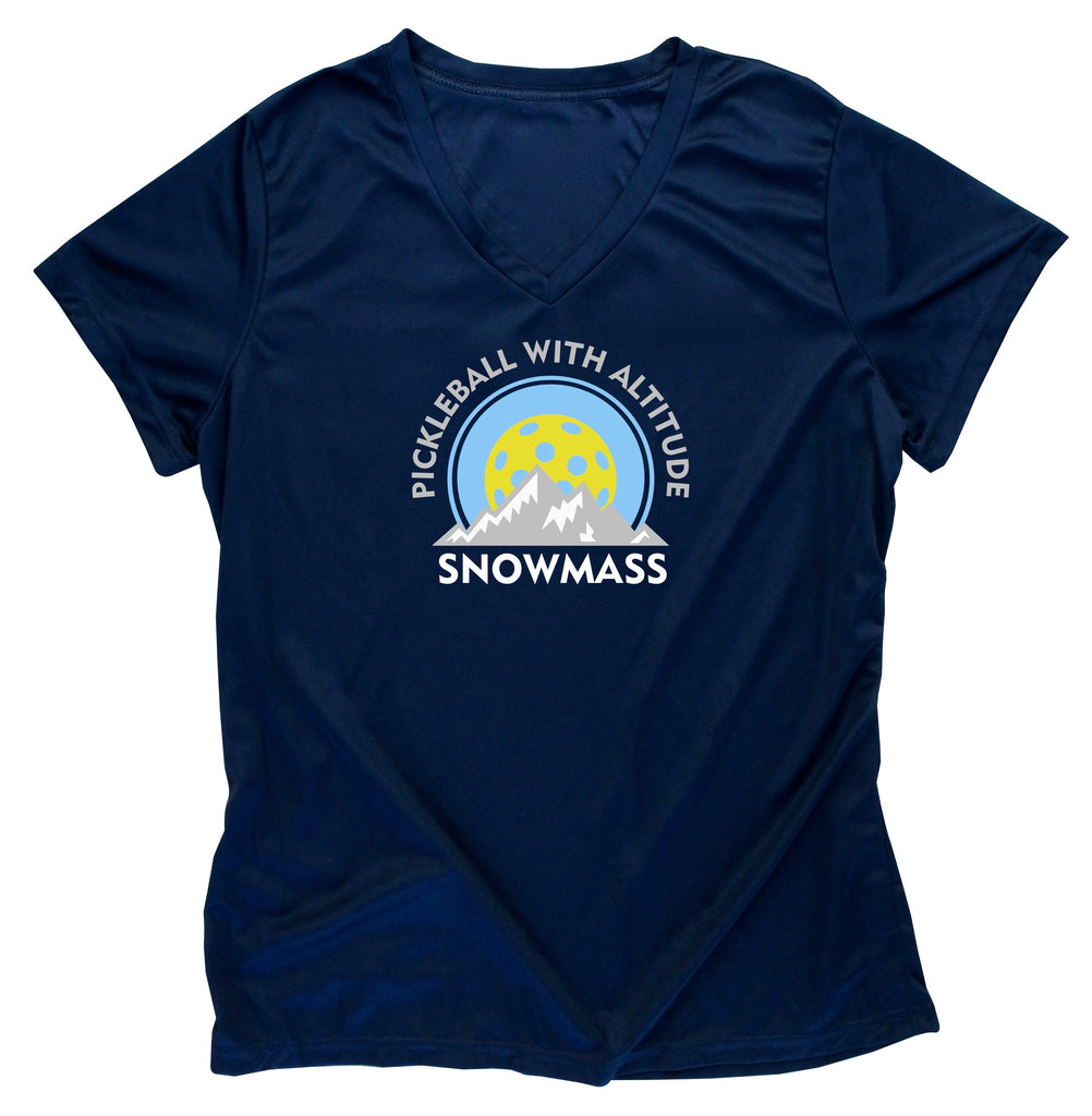 Snowmass Colorado Pickleball Performance Ladies T-Shirt - Design 1