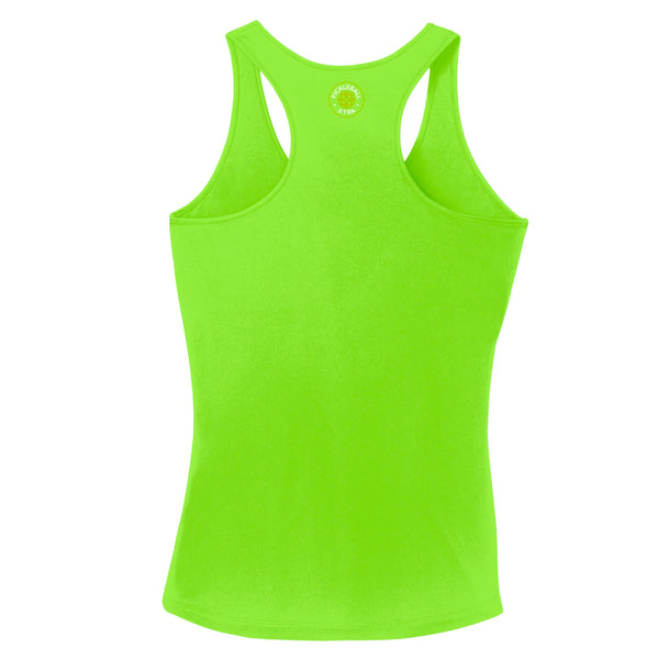 Aspen Pickleball Ladies Performance Racerback Tank - Front Chest Logo
