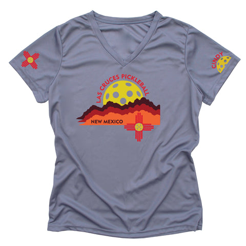 Las Cruces Organ Mountain Ladies Performance Pickleball T-Shirt