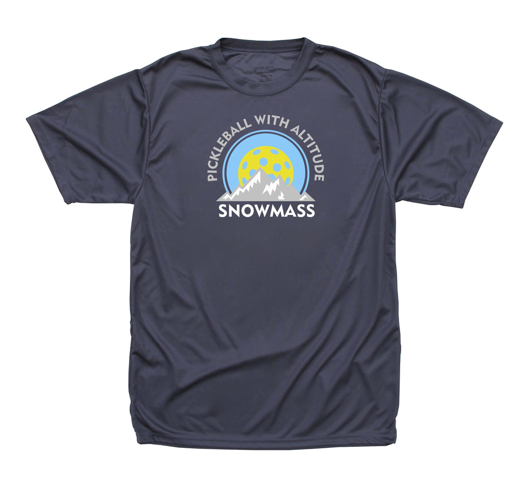 Snowmass Colorado Pickleball Performance Men's T-Shirt - Design 1