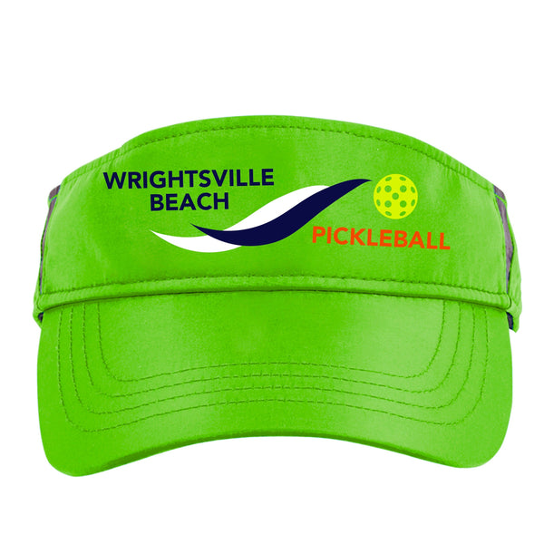 Wrightsville Beach Pickleball Embroidered Performance Dri-Fit Visor by Pickleball Xtra