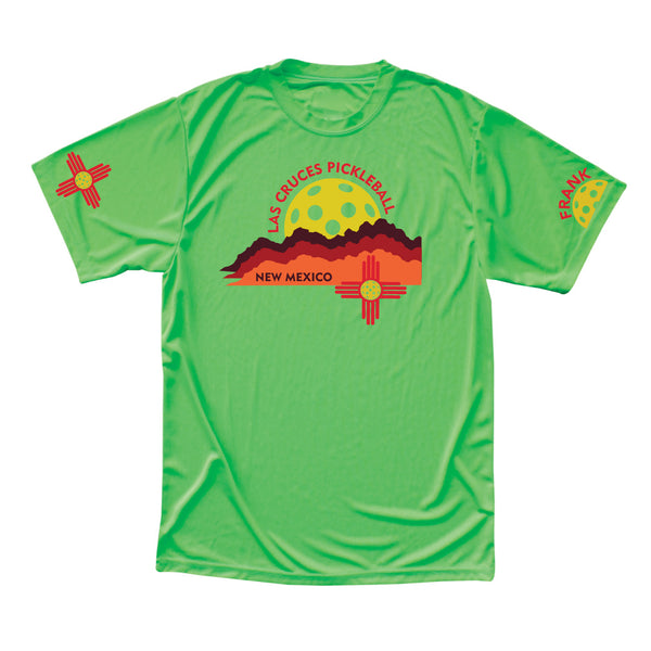 Las Cruces Men's Organ Mountains Performance Pickleball T-Shirt