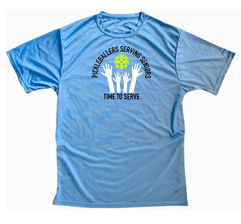 Men's Pickleballers Serving Seniors Performance Crew T-Shirt