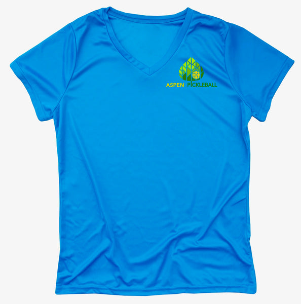 Aspen Pickleball Ladies Performance T-Shirt - Colorado Pickleball Front Chest Logo