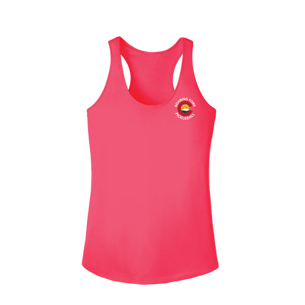 Roaring Fork, Colorado Pickleball Ladies Performance Racerback Tank