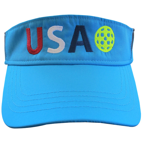 USA Pickleball Embroidered Performance Dri-Fit Visor by Pickleball Xtra
