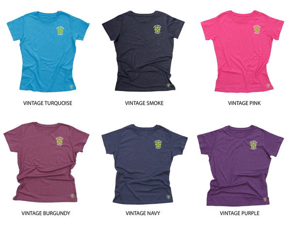 Vero Beach, FL - Pickleball University Club Ladies Cotton Blend T-Shirt
