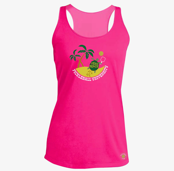 Vero Beach, FL - Pickleball University Club Ladies Performance racerback Tank