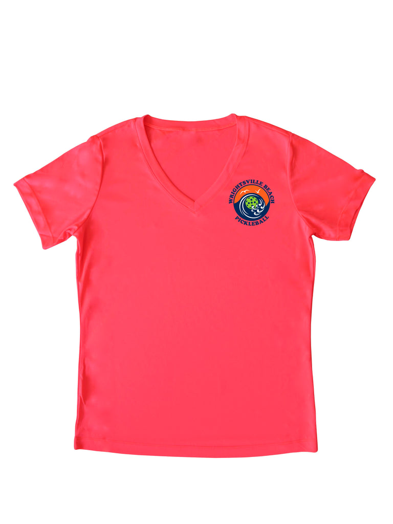 Wrightsville Beach Pickleball Ladies Performance T-Shirt - Front Chest Logo