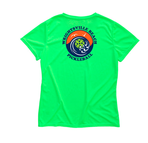 Wrightsville Beach Pickleball Ladies Performance T-Shirt-Back Logo