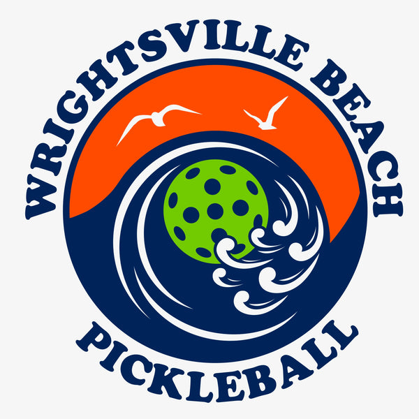 Wrightsville Beach Pickleball Men's Vintage Casual Cotton Blend T-Shirt - Front Chest AND Back Logo