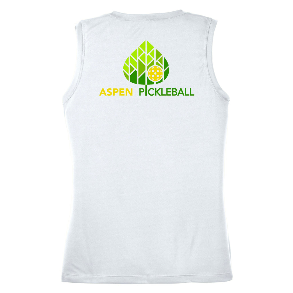 Aspen Pickleball Ladies Performance Sleeveless Vest - Back Logo
