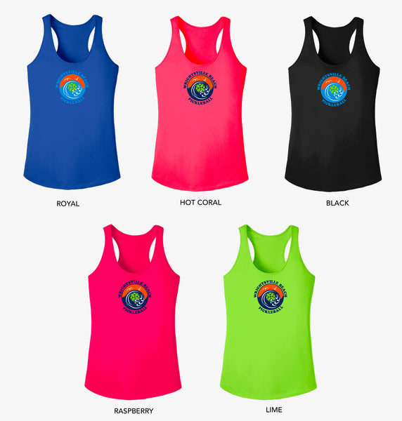 Wrightsville Beach Pickleball Ladies Performance Racerback Vest - Front Logo