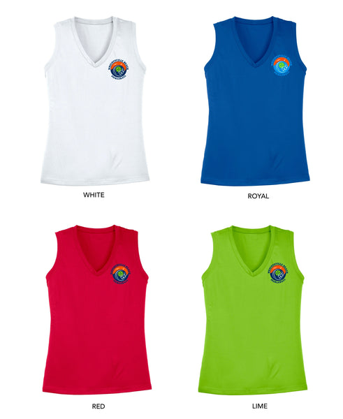 Wrightsville Beach Pickleball Ladies Performance Tank - Front Chest Logo