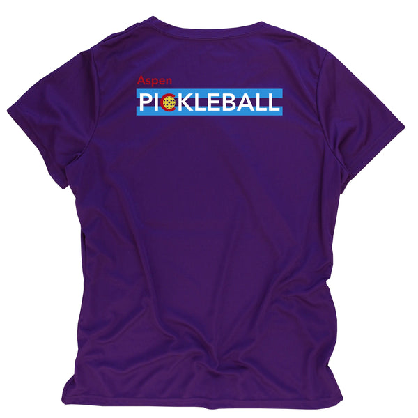 Aspen Colorado Flag Pickleball Ladies Performance T-Shirt